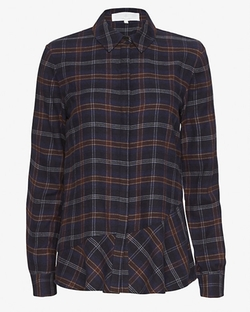 Thakoon Addition - Open Back Plaid Flannel Shirt