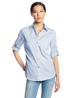 Jones New York - Petite Basic Roll Tab Shirt