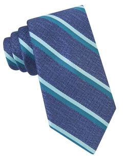 Michael Kors - Textured Striped Silk Tie