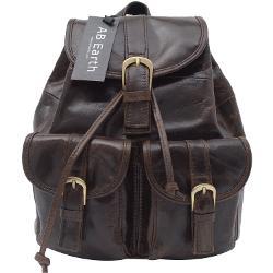 AB Earth - High Quality Leather Kid Backpack Shoulder Bag Satchel Espresso