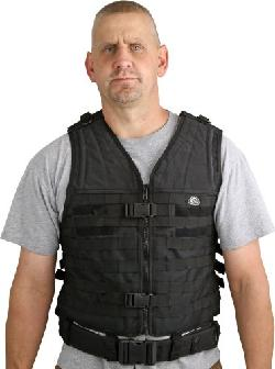 Colt Knives - Tactical Gear MOLLE Vest with Black Heavy Duty Nylon Construction