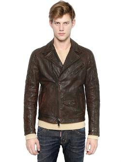 Dsquared  - Classic Leather Biker Jacket