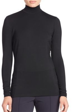 Lafayette 148 New York - Zip Detail Mockneck Top