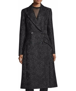 Michael Kors Collection  - Double-Breasted Damask Trench Coat