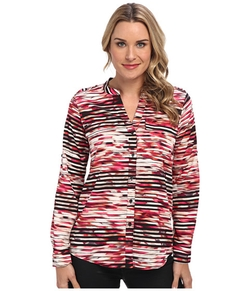 Calvin Klein  - Print Crew Neck Roll Sleeve Top