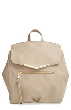T-Shirt & Jeans  - Faux Leather Backpack