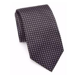 Saks Fifth Avenue Collection  - Polka Dot Silk Tie