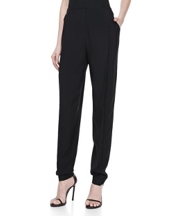 Halston Heritage - Pleated Front Tapered-Leg Trousers