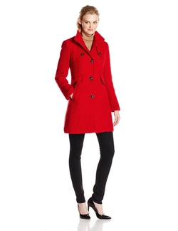 Ellen Tracy - Lubby Wool Funnel Neck Coat