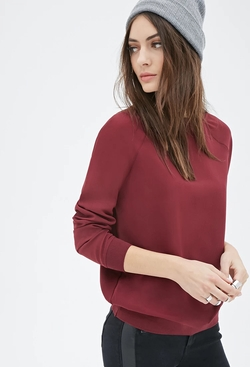 Forever21 - Chiffon Pullover Sweater