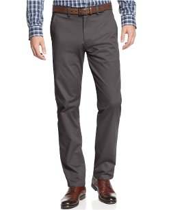 Kenneth Cole Reaction - Flat Front Slim-Fit Chino Pants