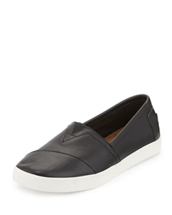 Toms - Avalon Leather Slip-On Sneakers