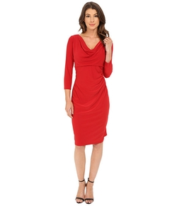 Anne Klein - Cowl Neck Jersey Dress
