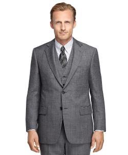 Brooks Brothers - Madison Fit Sharkskin Three-Piece 1818 Suit