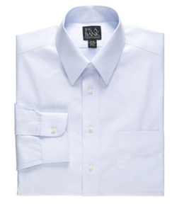 Jos. A. Bank - Traveler Tailored Fit Point Collar Pale Microcheck Dress Shirt