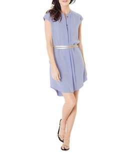 L&T Exclusive - Silk Double-Belt Shirtdress