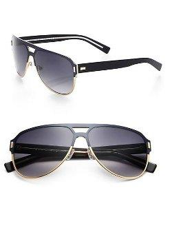 Dior Homme  - Titanium Aviator Sunglasses