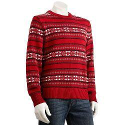 Dockers - Patterned Holiday Crewneck Sweater