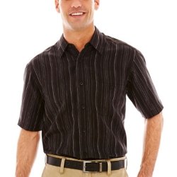 Haggar  - Short-Sleeve Microfiber Woven Shirt