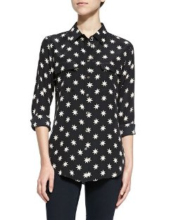 Equipment - Slim Signature Star-Print Blouse