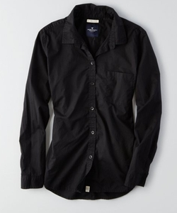 American Eagle Outfitters - AEO Solid Button Down Shirt