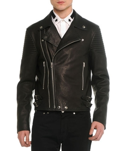 Givenchy - Asymmetric Leather Moto Jacket