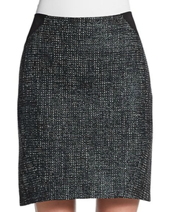 T Tahari - Joon Tweed Colorblock Pencil Skirt