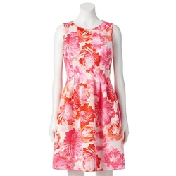 Jessica Howard  - Floral Pieced Dress