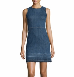 Theory - Raneid D Released-Hem Denim Dress