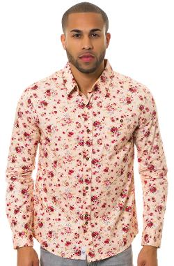 Bellfield  - The Lancaster Buttondown Shirt in Pink