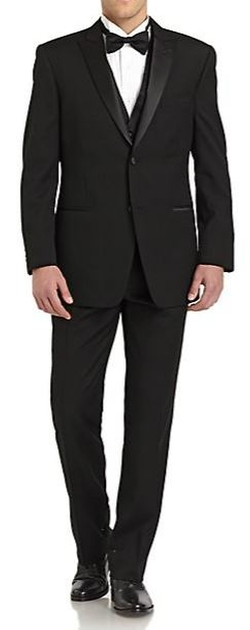 Ike Behar - Classic-Fit Wool Satin Peaked-Lapel Tuxedo Suit