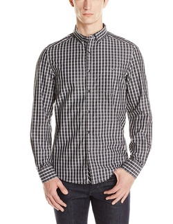 Kenneth Cole - Single Pocket Check Shirt