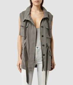 AllSaints - Aiya Sleeveless Jacket
