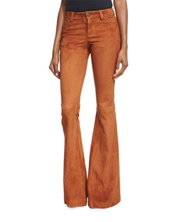 Alice + Olivia  - Suede Flare Pants