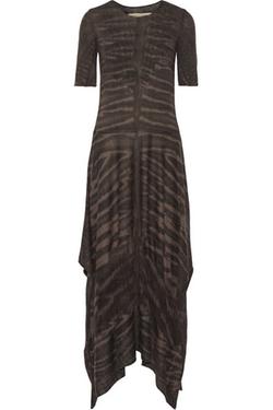 Raquel Allegra - Tie-Dyed Cotton-Blend Jersey Midi Dress