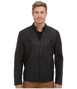 Kenneth Cole Reaction - Faux Leather Jacket