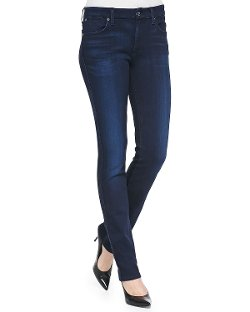 7 For All Mankind   - Low-Rise Skinny Jeans
