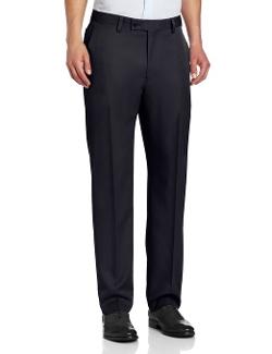 Louis Raphael  - Solid Modern Fit Flat Front Pant