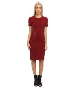 McQ  - Interlock+Leather Engineered Dress