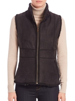 Carmen Marc Valvo  - Reversible Persian Lamb Fur Vest