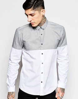 Lindbergh  - Contrast Color Block Slim Fit Shirt
