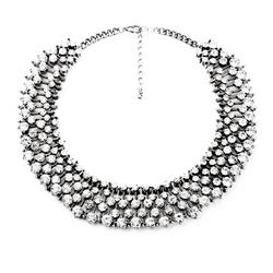 Fun Daisy  - Rhinestone Fashion Necklace