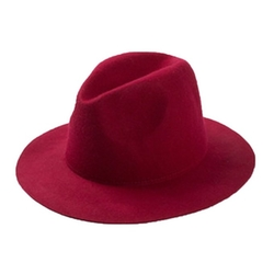 Letsqk - Long Brim Fedora Hat