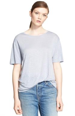 T By Alexander Wang - Linen Blend Jersey Tee Shirt