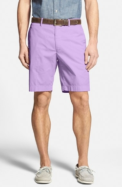 Bobby Jones  - Stretch Cotton Flat Front Shorts