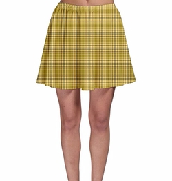 Cow Cow  - Tartan Pattern Skater Skirt