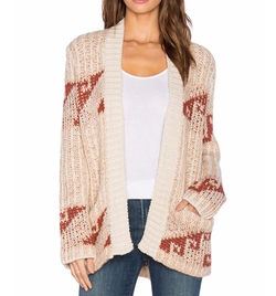 Free People - Time And Again Pattern Cardigan