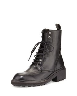 Ash	  - Styx Lace-Up Leather Combat Boot