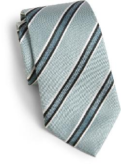 Armani Collezioni - Diagonal Stripe Shadow SIlk Tie