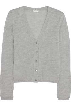 Miu Miu - Cashmere & Silk-Blend Cardigan Sweater